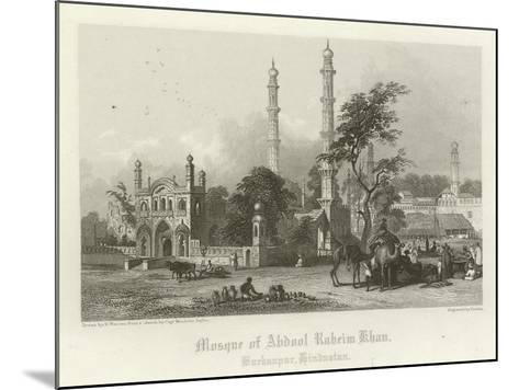 Mosque of Abdul Rahim Khan, Burhanpur, India-Henry Warren-Mounted Giclee Print