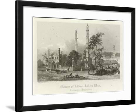 Mosque of Abdul Rahim Khan, Burhanpur, India-Henry Warren-Framed Art Print