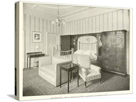 Bedroom, by Liberty and Company, London W--Stretched Canvas Print