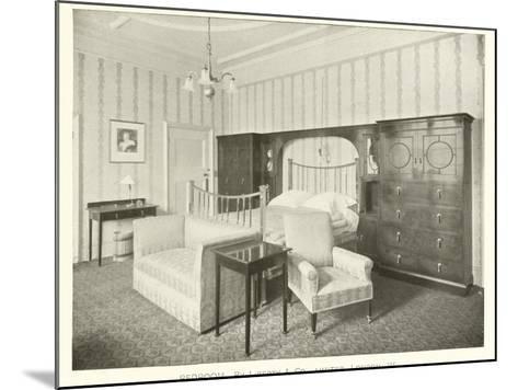 Bedroom, by Liberty and Company, London W--Mounted Photographic Print