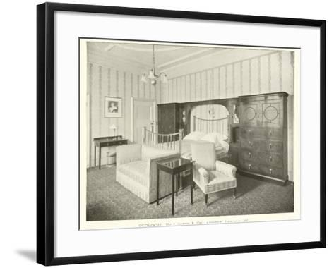 Bedroom, by Liberty and Company, London W--Framed Art Print