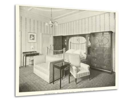 Bedroom, by Liberty and Company, London W--Metal Print