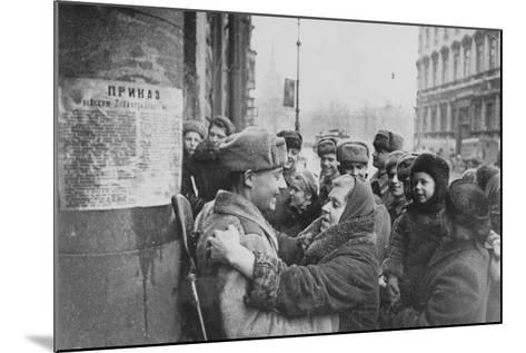 Russian Offensive, Leningrad, 27th January 1944--Mounted Photographic Print