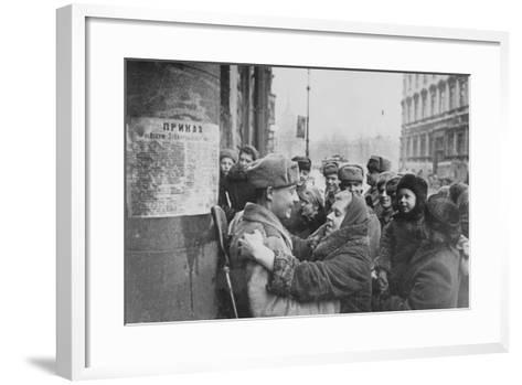 Russian Offensive, Leningrad, 27th January 1944--Framed Art Print