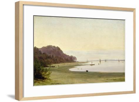The Shore of the Elbe-Marcus Johann Haeselich-Framed Art Print