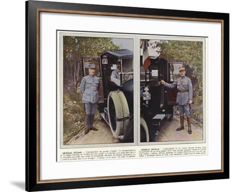 General Petain, General Nivelle-Jules Gervais-Courtellemont-Framed Art Print