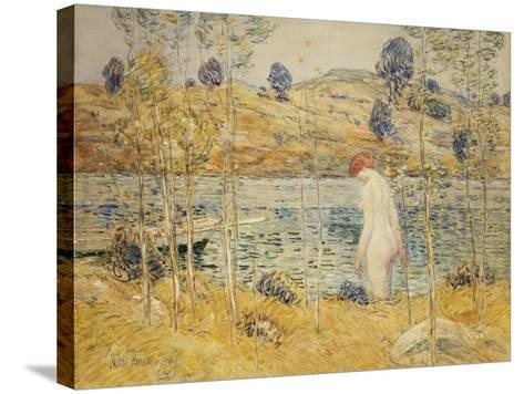The River Bank, 1906-Childe Hassam-Stretched Canvas Print
