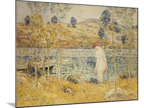 The River Bank, 1906-Childe Hassam-Mounted Giclee Print
