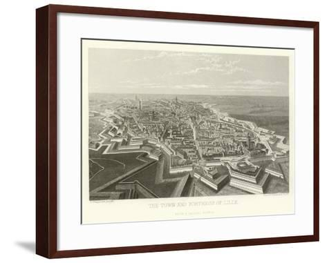 The Town and Fortress of Lille-Alphonse Marie de Neuville-Framed Art Print
