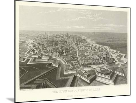 The Town and Fortress of Lille-Alphonse Marie de Neuville-Mounted Giclee Print
