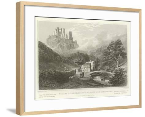 Valley of Engeholle and Ruins of Schonberg-William Tombleson-Framed Art Print