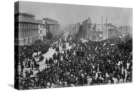 12th July, Belfast, Ireland, 1888-Robert John Welch-Stretched Canvas Print