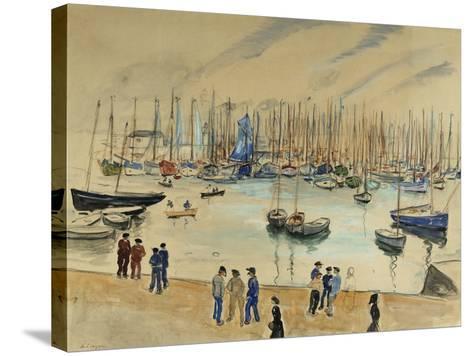 Quay; Le Quai-Henri Lebasque-Stretched Canvas Print