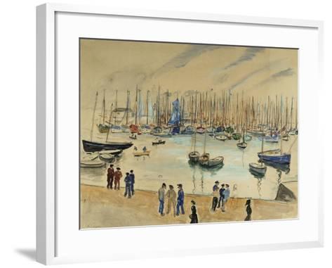 Quay; Le Quai-Henri Lebasque-Framed Art Print