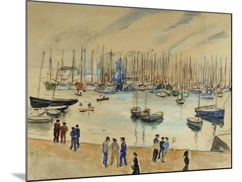 Quay; Le Quai-Henri Lebasque-Mounted Giclee Print