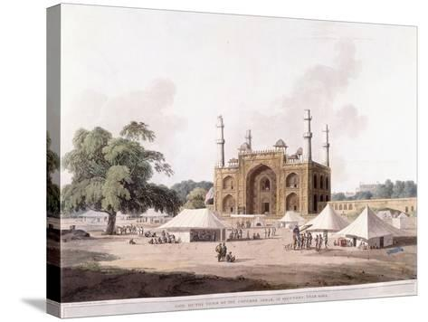 Gate of the Tomb of the Emperor Akbar-Thomas Daniell-Stretched Canvas Print