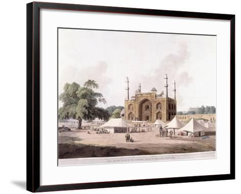 Gate of the Tomb of the Emperor Akbar-Thomas Daniell-Framed Art Print