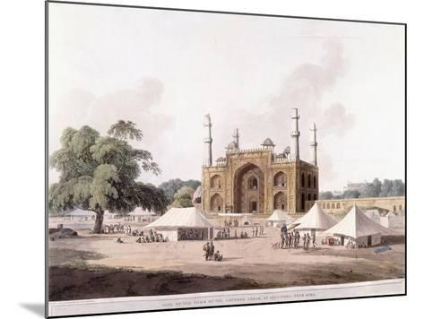 Gate of the Tomb of the Emperor Akbar-Thomas Daniell-Mounted Giclee Print