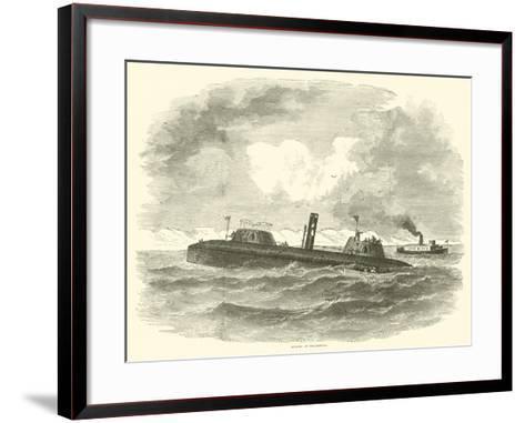Sinking of the Keokuk, July 1863--Framed Art Print