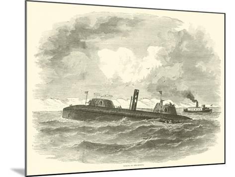 Sinking of the Keokuk, July 1863--Mounted Giclee Print
