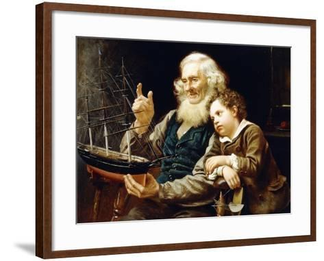A Story of the Sea, 1883-John George Brown-Framed Art Print