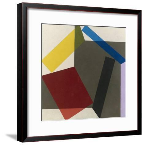 Sidefold V, 1985-Michael Canney-Framed Art Print