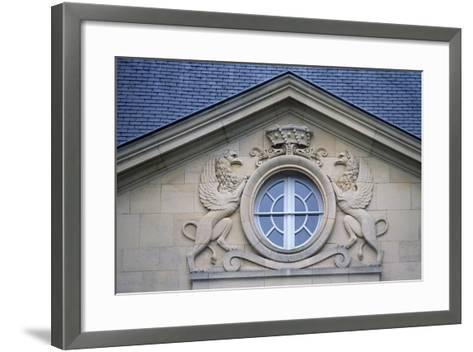 Porthole with Rampant Lions, Louvois Castle--Framed Art Print