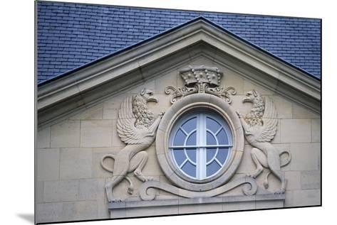 Porthole with Rampant Lions, Louvois Castle--Mounted Giclee Print