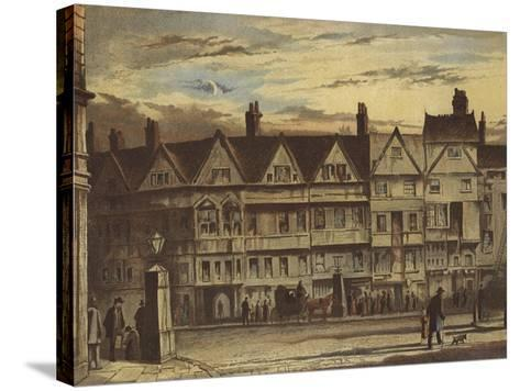 Old Houses, Holborn Bars-Waldo Sargeant-Stretched Canvas Print