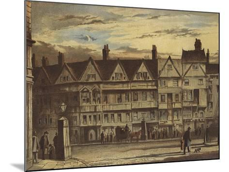 Old Houses, Holborn Bars-Waldo Sargeant-Mounted Giclee Print
