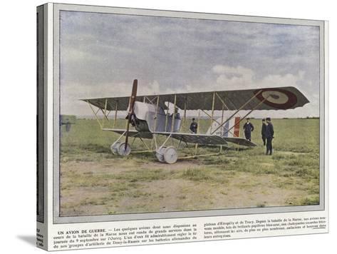 Un Avion De Guerre-Jules Gervais-Courtellemont-Stretched Canvas Print