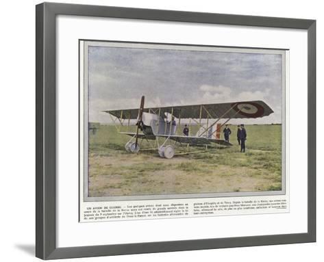 Un Avion De Guerre-Jules Gervais-Courtellemont-Framed Art Print