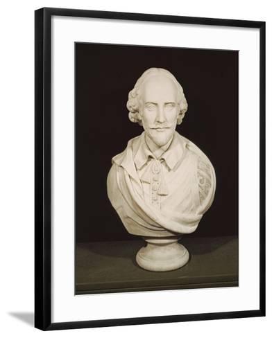 Bust of William Shakespeare--Framed Art Print