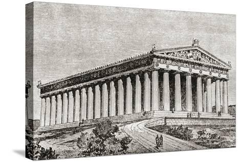 Exterior of the Parthenon in Athens, Greece--Stretched Canvas Print
