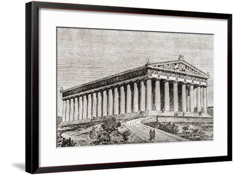 Exterior of the Parthenon in Athens, Greece--Framed Art Print