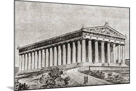 Exterior of the Parthenon in Athens, Greece--Mounted Giclee Print