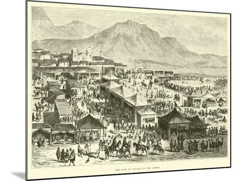 The Fair of Pucara in the Andes-?douard Riou-Mounted Giclee Print