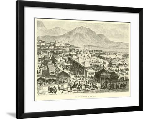 The Fair of Pucara in the Andes-?douard Riou-Framed Art Print