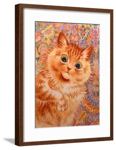 Ginger Cat, 1931-Louis Wain-Framed Art Print