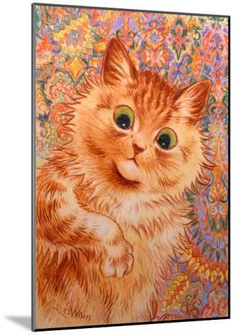 Ginger Cat, 1931-Louis Wain-Mounted Giclee Print