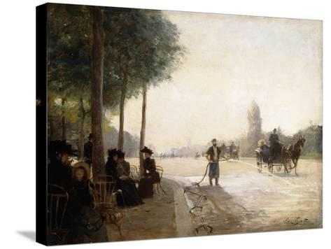 The Champs Elysees, Paris-Victor Gabriel Gilbert-Stretched Canvas Print