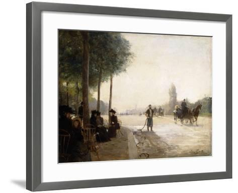 The Champs Elysees, Paris-Victor Gabriel Gilbert-Framed Art Print