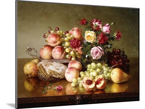 Fruit Still-Life with Roses and Honeycomb, 1904-Robert Spear Dunning-Mounted Giclee Print