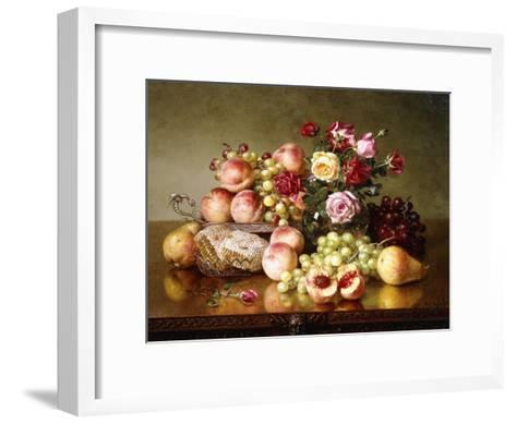 Fruit Still-Life with Roses and Honeycomb, 1904-Robert Spear Dunning-Framed Art Print