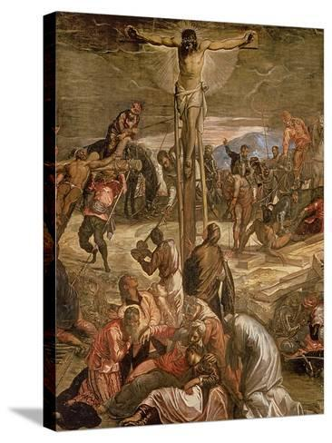 The Crucifixion of Christ, 1565-Jacopo Robusti Tintoretto-Stretched Canvas Print
