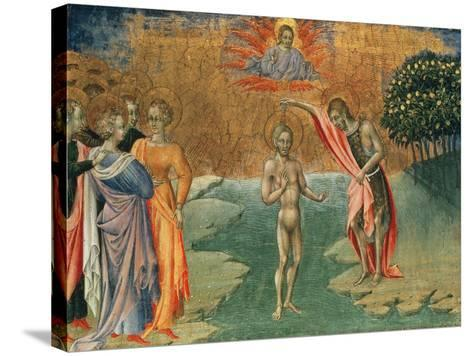 The Baptism of Christ, 15th Century--Stretched Canvas Print