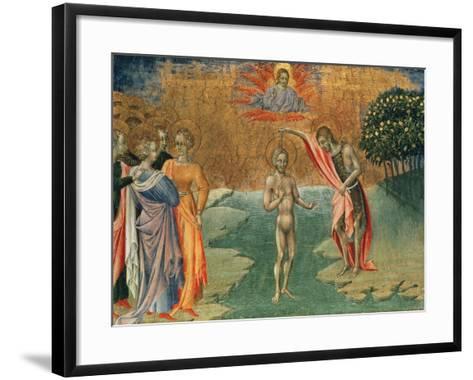 The Baptism of Christ, 15th Century--Framed Art Print