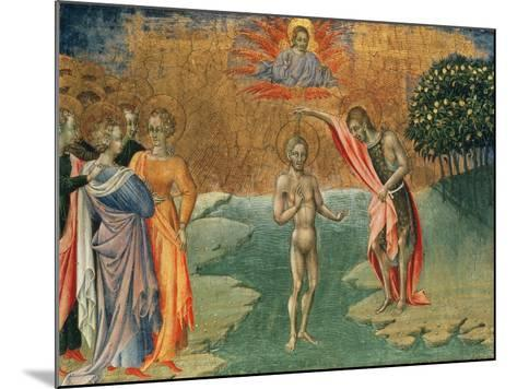 The Baptism of Christ, 15th Century--Mounted Giclee Print