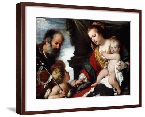 The Holy Family with the Infant St-Bernardo Strozzi-Framed Art Print