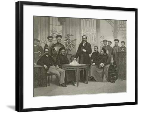 Chinese Embassy to Foreign Powers, 1868-Alonzo Chappel-Framed Art Print